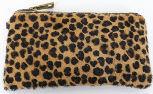 Leather Animal Print Purse/Wallet - Small Leopard
